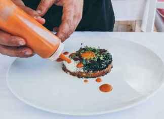 Piatto di cucina molecolare