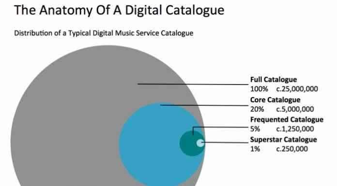 Suddivisione tipologia canzoni ascoltate in streaming