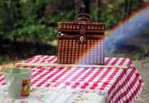 Tavolo con tovaglia da Picnic