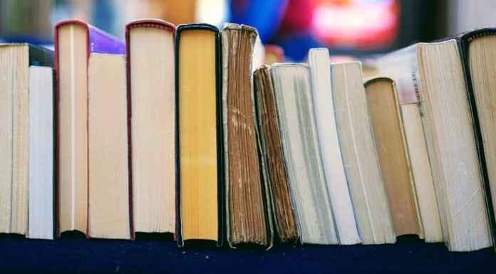 Fila di libri