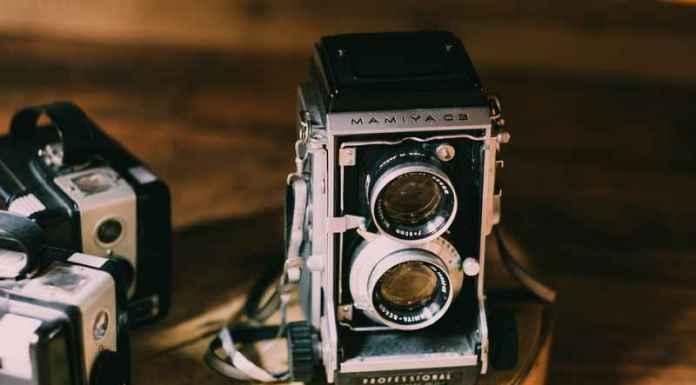 Vecchia macchina della storia della fotografia